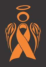 Orange Kidney Leukemia Cancer Angel - Die Cut Vinyl  Decal/Sticker for Car/Truck