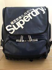 Superdry RARE Unique Sample Ben Tarpaulin Backpack - Navy/White BNWT