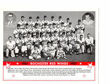 1957 ROCHESTER RED WINGS TEAM 8X10 PHOTO DEAL SHANTZ  BASEBALL