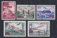 Germany occupation of Serbia 1941 Airmail stamps, used (o)