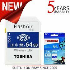 Toshiba 64GB FlashAir W-04 Wireless WiFi SD Card│UHS-I Class3 4K Memory Card│NEW