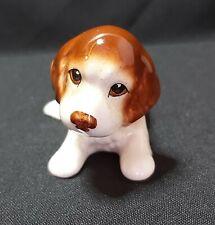 Small Vintage Pottery Ceramic DOG figure sitting 1960's ??