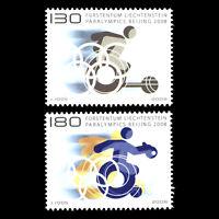 Liechtenstein 2008 - Paralympics - Beijing, China  - Sc 1414/5 MNH