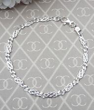 "Ladies Solid Sterling Silver Celtic Bracelet 7"" GIFT BOXED"