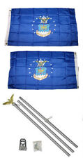 3x5 U.S. Airforce Air Force 2ply Flag Aluminum Pole Kit Set 3'x5'