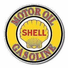 Shell Gasoline Motor Oil Retro Vintage Tin Sign 12x12