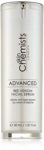 SkinChemists Advanced Bee Venom Facial Serum 30ml Manuka Honey Hyaluronic Acid