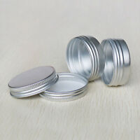 1/5pcs Empty Round Tin Case for Lotion Bar Lip Balm Wax Ointment Bottle 15ml