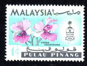 1965 Malaysia-Penang SC# 67 - Orchid Type of Johore - M-H