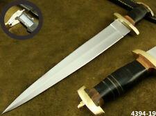 "ALISTAR 15.5"" CUSTOM HANDMADE DOUBLE EDGE SWISS DAGGER HUNTING KNIFE (4394-19"
