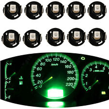 10PCS Car Green T4 / T4.2 WEDGE LED GLOBES 1SMD LED DASH CLUSTER 2015 AU Stock