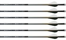 "Easton Carbon Hexx 330 Arrows Factory Fletched w/ 2"" Blazer Vanes 6 Pack"