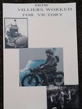 Villiers Engines Wartime Book 'How they Worked for Victory WD motorcycles Shells