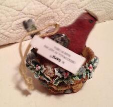 Gantz Red Bird With Nest Christmas Ornament
