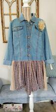 Women's Plus Size 14/16 Venezia Clothing Co Jacket Blouse Blue Jean Denim Top