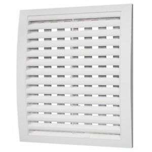 White Air Vent Grille with Adjustable Shutter Wall Ducting Ventilation Cover