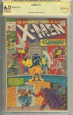 X-Men #71 CBCS (not CGC) 6.0 Signed Roy Thomas
