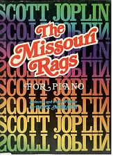 SCOTT JOPLIN-THE MISSOURI RAGS FOR PIANO MUSIC BOOK-RARE OUT OF PRINT-ON SALE!!