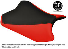 DESIGN 2 RED BLACK VINYL CUSTOM FOR KAWASAKI NINJA EX 300 12-16 FRONT SEAT COVER