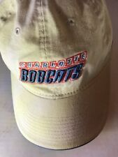 NBA Charlotte Bobcats White Hat Adjustable Hook and Loop 3D Lettering Reebox