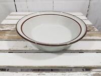 "Brown mist Vegetable Bowl cereal Brown speckle stoneware 9 1/8"" no mark"