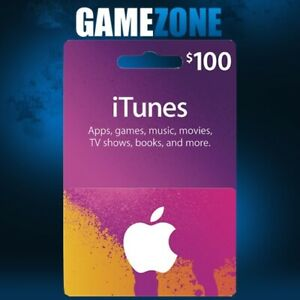 iTunes Gift Card $100 USD USA Apple iTunes Code Dollars United States Digital