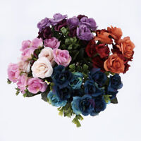 15-Head Artificial Rose Bouquet Silk Fake Flower Wedding Party Home Decorations
