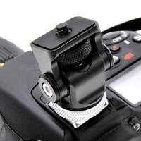 Hot Shoe Mount Monitor Microphone Holder 1/4 Screw Camera Holder Stand Bracket