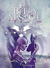 """THE BIRTHDAY MASSACRE """"UNDER YOUR SPELL NORTH AMERICAN TOUR 2017"""" CONCERT POSTER"""