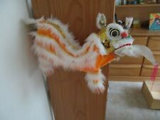 CHINESE NEW YEAR ORANGE PUPPET MARIONETTE LION DRAGON HEAD DANCE HANGING TOY