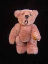 1998 LITTLE GEM LAVENDER MOHAIR JOINTED TEDDY BEAR PIN MINIATURE ARTIST SIGNED