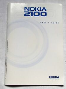 Nokia 2100 Mobile Phone 46 page Factory User Manual VGC