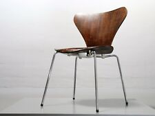 1x chaise 3107 Arne Jacobsen Fritz Hansen marron foncé Lot Chaise 19% TVA chair