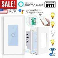 15A WIFI Smart Light Touch Switch Remote for Alexa Google IFTTT Voice Control US