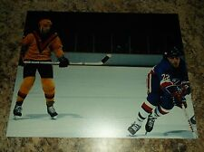 Dave Tiger Williams Mike Bossy Canucks Islanders Unsigned 8 X 10 Matte Photo