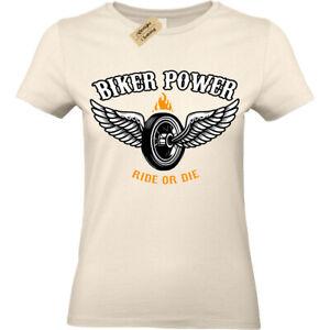 Biker Power T-Shirt Ride or die Motorbike Womens Ladies top