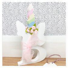 Personalised Pretty Unicorn  Girls freestanding wooden 20cm letter/name Gift