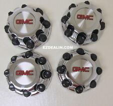 "Set of 4 Chrome GMC Sierra Yukon XL 8 Lug 2500 Center Caps 16"" Aluminum Wheels"