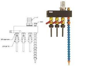 """Kühlmittelverteiler System 3/8 """" With Joint Hose For Luftanschluß 8 MM"""