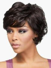 100% Real hair! New Beautiful Women's Short Dark Brown Wavy Human Hair Full Wigs