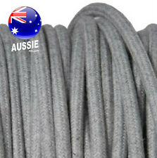 GREY FELT vintage style textile fabric electrical cord cloth cool cable 1m.