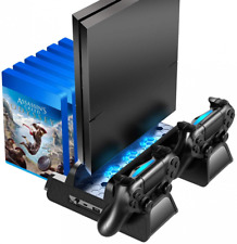 PS4 /PS4 Slim/PS4 Pro Vertical Cooling Stand Controller Charging Dock & 12 Game