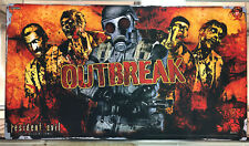 "*NEW* RESIDENT EVIL OUTBREAK DECK BUILDING GAME PLAYMAT 29""x16.5"""