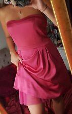 Warehouse, Size 14, Beautiful Pink Satin Dress, With Tutu. Good Condition