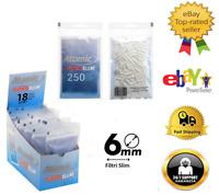 Atomic Filtri Tips Slim 6mm In Filtre Busta Sigarette Box Buste  Da 250 Filtri