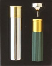 Shotgun Cartridge Hip Flask in Presentation Box with LED Torch & Funnel Boxed