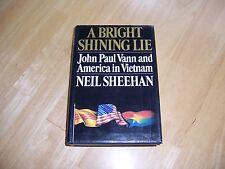 A BRIGHT SHINING LIE by Neil Sheehan/1st Ed/HCDJ/Military/War/Viet Nam War