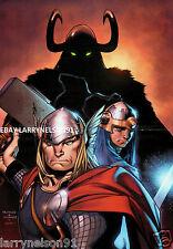 THOR MARVEL COMIC BOOK POSTER OLIVIER COIPEL MORALES AVENGERS DONALD BLAKE GODS