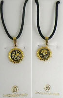 Damascene Gold Nature Design Pendant Necklace by Midas of Toledo Spain