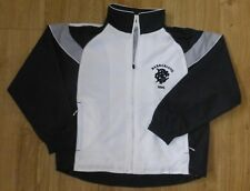 """BARBARIANS RUGBY-Showerproof/Track Top-NEW Childs Size 30""""-7/8-WHITE/BLACK/GREY"""
